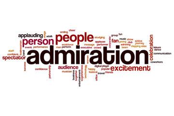 Admiration word cloud