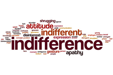 Indifference word cloud
