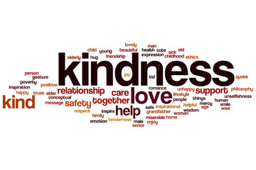 Kindness word cloud