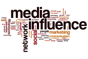 Media influence word cloud