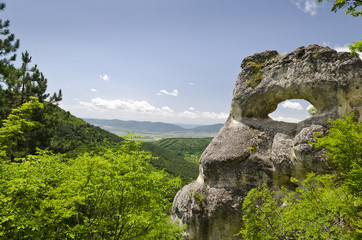 "SRock formation near the town of Shumen, named ""Okoto"""