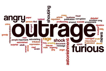 Outrage word cloud