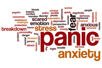 Panic word cloud