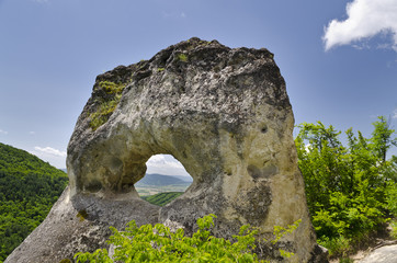 """Rock formation near the town of Shumen, named """"Okoto"""""""