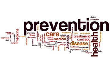 Prevention word cloud