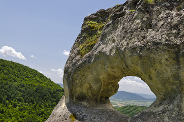 "Rock formation near the town of Shumen, named ""Okoto"""