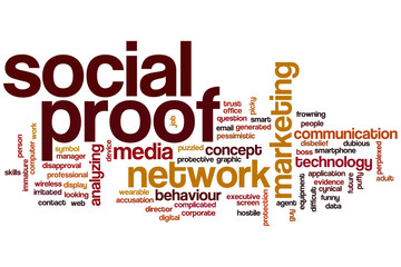 Social proof word cloud