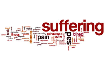 Suffering word cloud