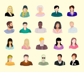 Faces of people