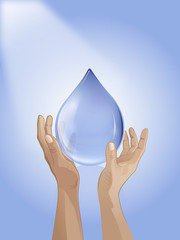 drop of water in hand