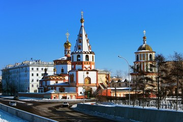 Cathedral of the Epiphany in Irkutsk, Russia