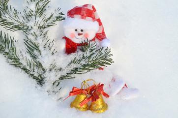 Новогодний снеговик.