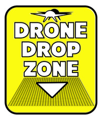 Rectangular Drone parcel Drop Zone sign