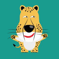 tricky cheetah gartoon character