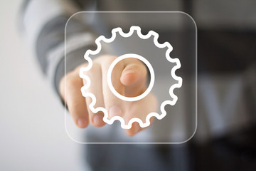 Button engineering business web icon
