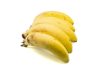 bananas on a white