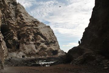 Rocas de playa Corazones de arica