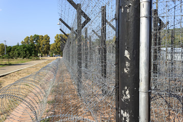 Straight prison fence