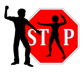 Stop harassment, Self Defense for Women sign