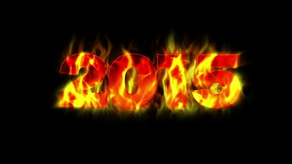2015 Fiery New Year, with Alpha Matte