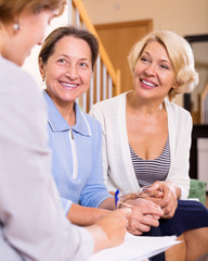 women consulting at insurance agent