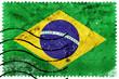 Brazil Flag - old postage stamp