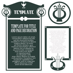 Vector template concert program and invitations cards