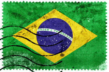 Brazil Flag - old postage stamp