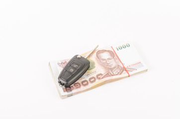 budget for car loan on white background