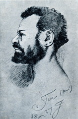 Tui, Maclay's friend in the 1870s (draving of Mikluho-Maklai)