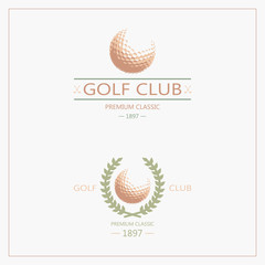 Golf labels and badges made in vector. Golf logotypes. Set 2