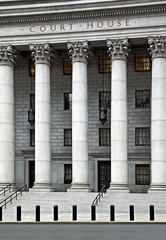 inscription on the courthouse