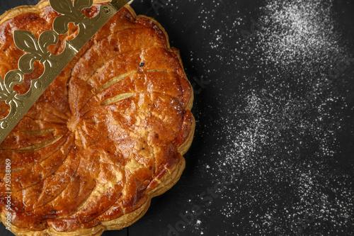 Foto op Canvas Dessert galette des rois entière