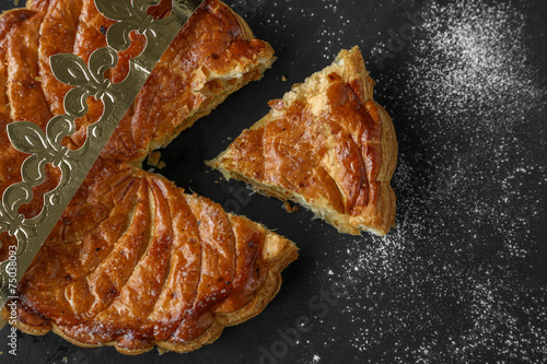 Keuken foto achterwand Dessert galette des rois coupée 2