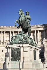Statue of Prince Eugene , Vienna (Austria)