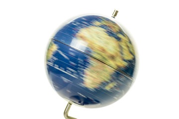 World globe spinning