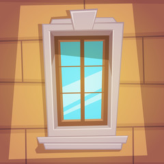 Retro Cartoon Window