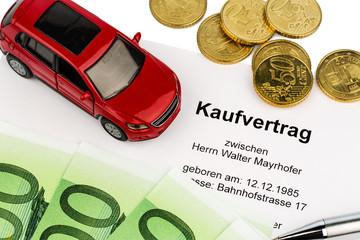 Kaufvertrag für Auto
