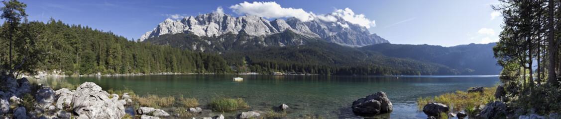 Eibsee Garmisch Partenkirchen mit Zugspitze