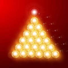 Christmas tree of Bulbs - Vector EPS10