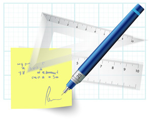 Technical Drawing Instruments - Illustration