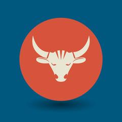 Bull symbol, vector