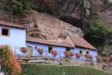 Maison troglodyte à Graufthal (Alsace, France)