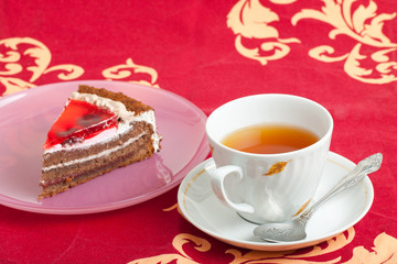 cup of tea and piece of cake