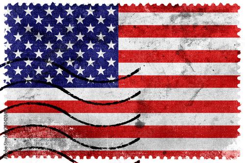 USA Flag - old postage stamp - 75042848