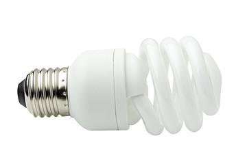 Spiral energy saving lamp.