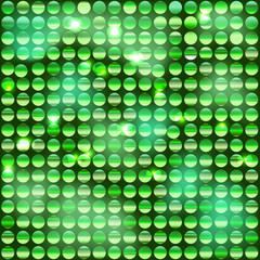 Фон из блестящих дисков с зелёным оттенком