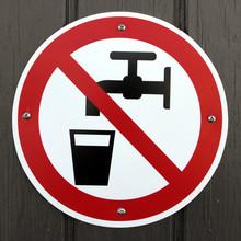 "Постер, картина, фотообои ""No drinking water"""
