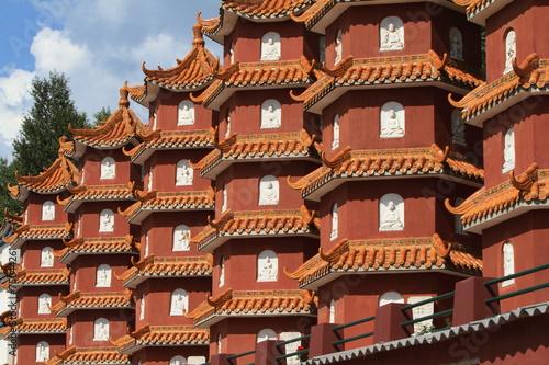 Leinwandbild Motiv Die Tempelanlagen von Wutai Shan in China