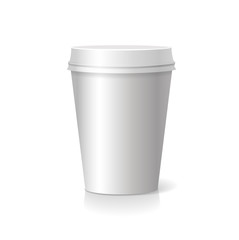 blank paper Coffee drinking cup
